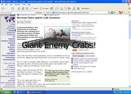 Giant Enemy Crab Terrorizes Norway!