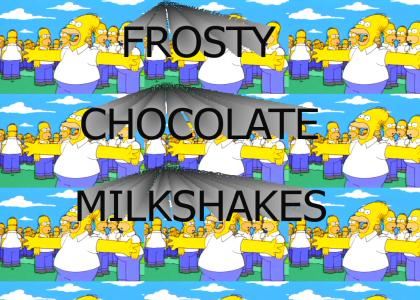 LET'S ALL GO OUT FOR SOME FROSTY CHOCOLATE MILKSHAKES!