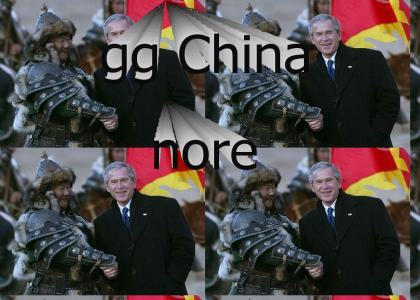 Bush allies with the Mongolians