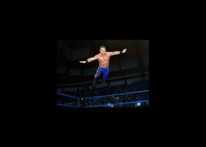 Chris Benoit Believes he can fly!