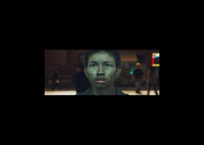 Asian Kid Stares At David Bowie