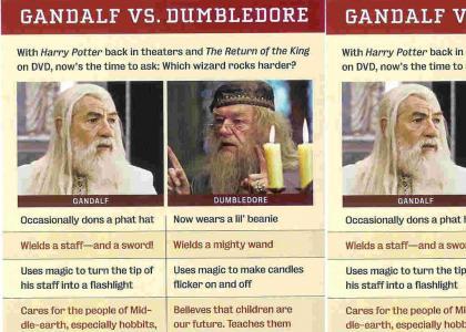 Gandalf Pwns DUMBLEDORE!