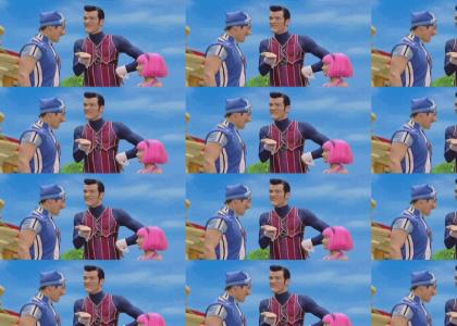 Lazytown: With Cake and Balloons