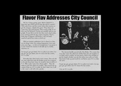 Flavor Flav Addresses City Council