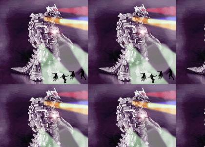 Mechagodzilla Robot Techno Dance