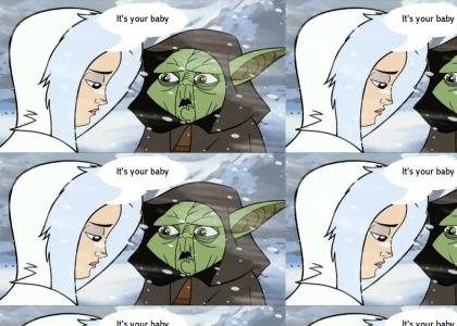 Padme gives Yoda shocking news