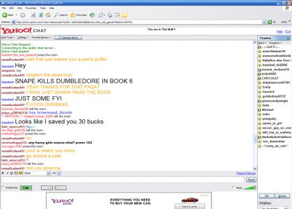 Yahoo Chat learns of Dumbledore's death!