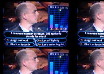 lol, Quiz Show Question!