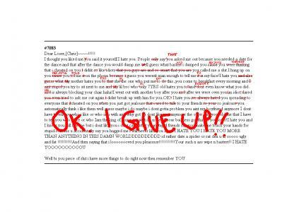 The breakup letter breakdown