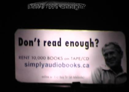 Don't read enough?