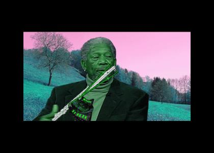 morgan freeman plays the baron lasers