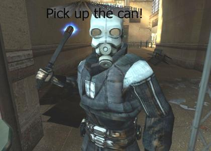 Pick up the can!