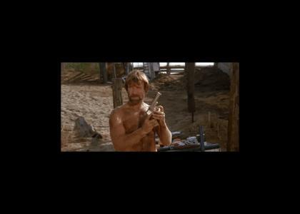 Chuck Norris Target Practice