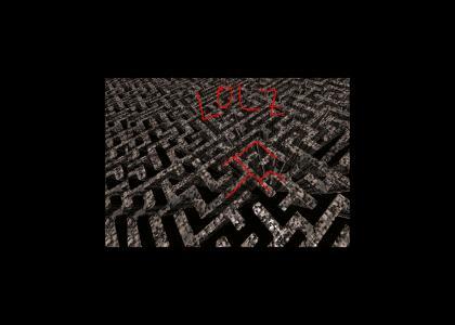 OMF, not secret nazi maze!