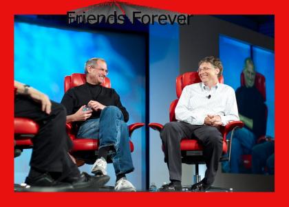 Steve Jobs and Bill Gates hit it off