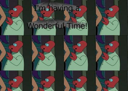 Zoidberg is having a Wonderful Time Futurama!