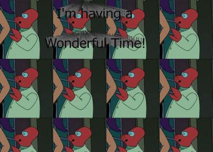 Zoidberg is having a Wonderful Time Futurama!