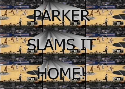 Tony Parker slams it home (working on the right music)