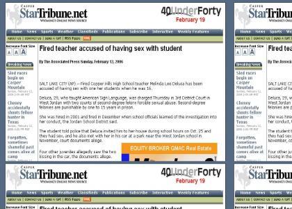Teacher has sex with student