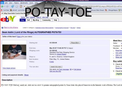 ebay autographed potato!
