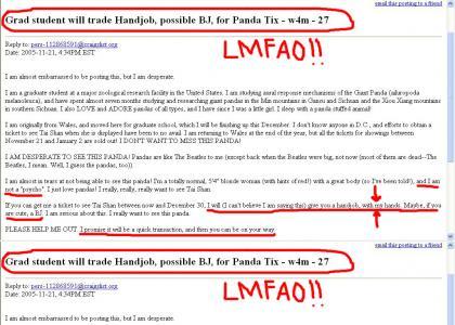 Panda tix = handjob!!