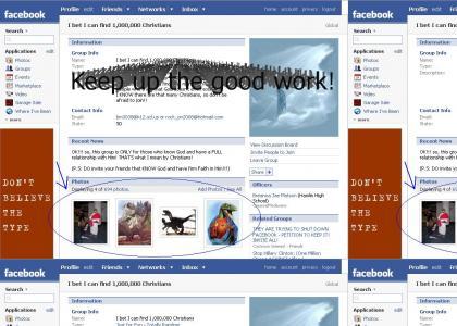 Raptor Jesus Facebook Raid! (update)