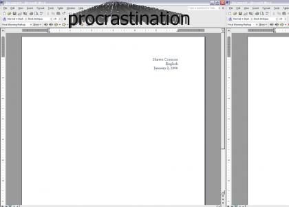 Procrastination *Fixed Gif*