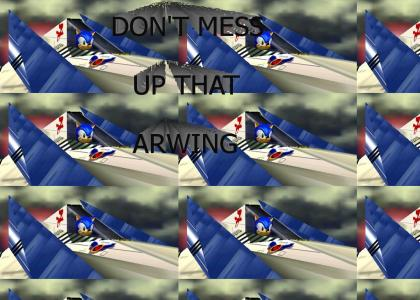 Sonic gives Arwing advice