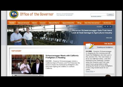 Gov. Arnold Speaks to California's Firefighters