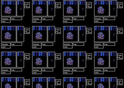 Captain Jack Sparrow vs Kraken, NES style