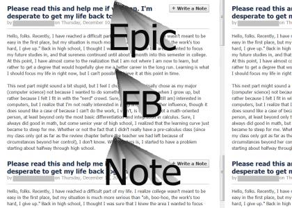 Epic FB Note