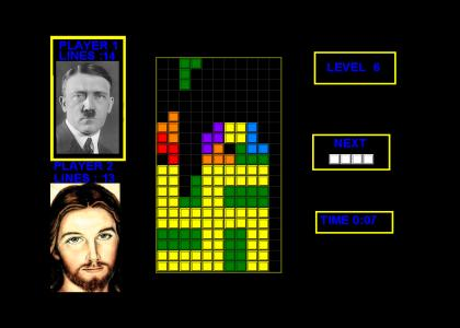 OMG, Secret Nazi TETRIS!! (Now With Winking Jesus)