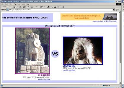 Braveheart v.s. Eddie from Iron Maiden!??!!?!