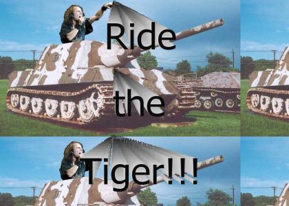 Ronnie James Dio rides a Tiger!