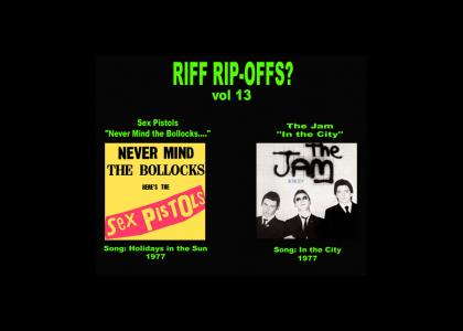 Riff Rip-Offs Vol 13 (Sex Pistols v. The Jam)