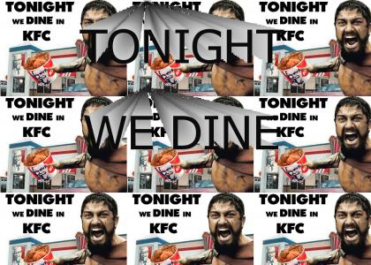 Tonight we dine in KFC!