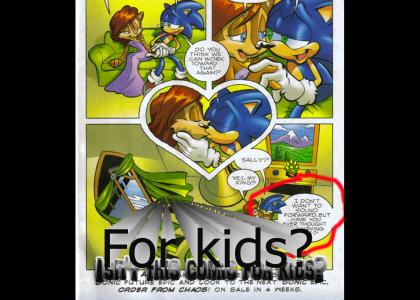 Is sonic comic for kids?