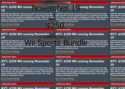 Wii release date and price!