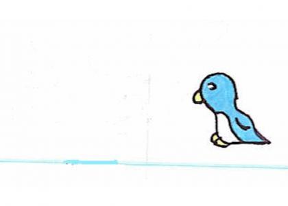 MSPaintmnd: Blue Penguin