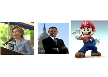 Clinton, Obama, and Mario (political humor)