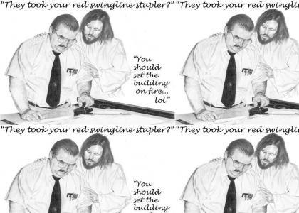 Jesus comforts Milton