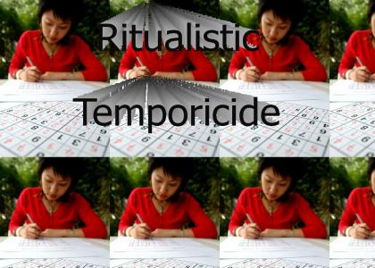 *DISTURBING!* Japanese Girl Committing Sudoku