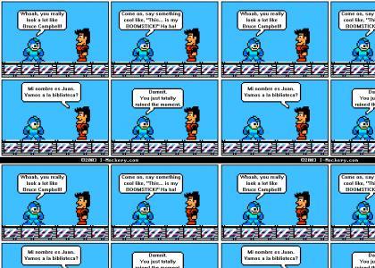 Mega man meets bruce campbell
