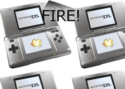 The Nintendo DS summons a Fire Spirit
