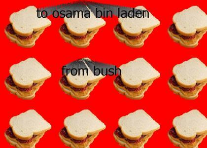 bush wants osama bin laden to be his friend