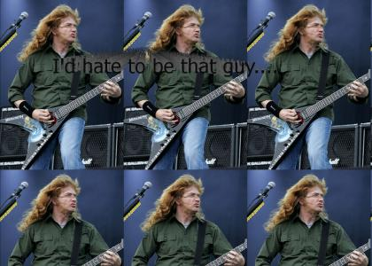 Don't point lasers at Dave Mustaine