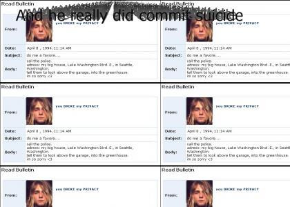 Kurt Cobain MYSPACE Suicide!