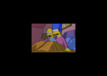 Marge and Homer's simultaneous heart attack