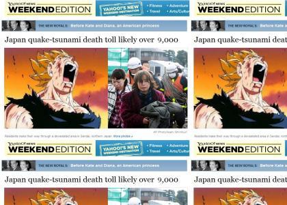 Vegeta Reacts to Tsunami