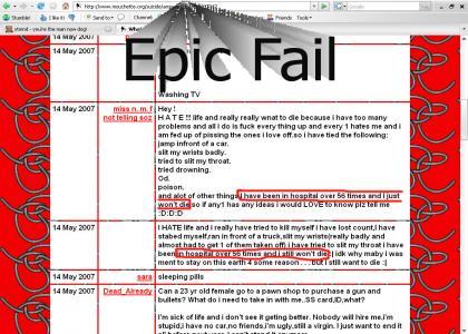 Epic Fail At Suicide